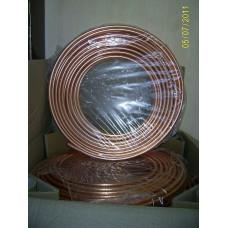Труба мідна 3/8 для кондиціонера (9,53 / 0,81 мм) Halcor , ГРЕЦІЯ на відріз