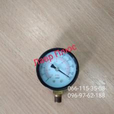 Манометр 310500104 мановакууомметр діаметр 50 мм . Черн . Під'єднання знизу. Вакуумметр.