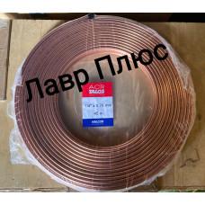 Мідна труба 1/4 для кондиціонера (6,35 / 0,76 мм), бухта 45 м. Halcor, Греція