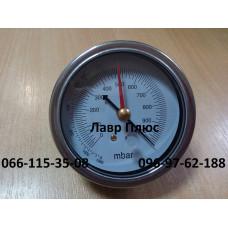 Вакууметр для вимірювання тиску Value 310500301, 2 стрілки , присоедин. з низу